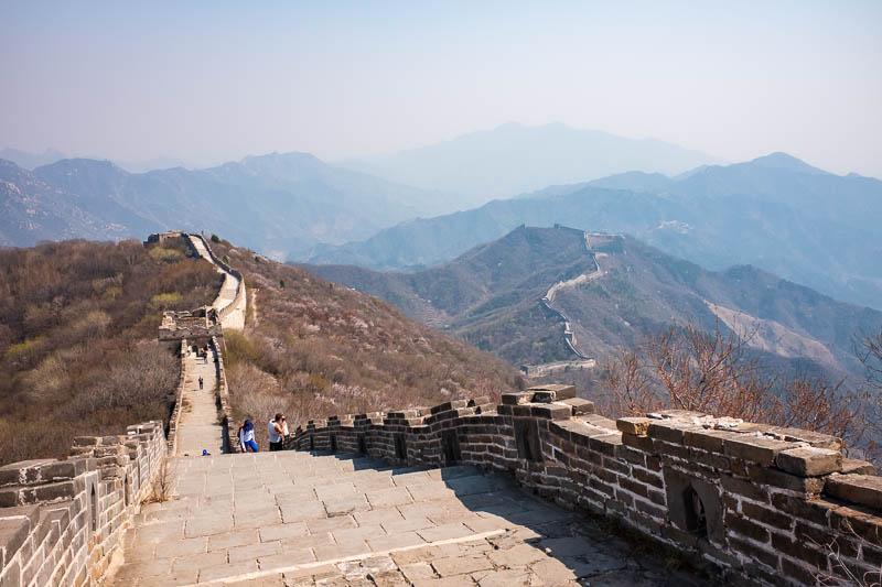 China-Great Wall-Mutianyu - Now to re trace my steps back down to the series of buses and subway lines.