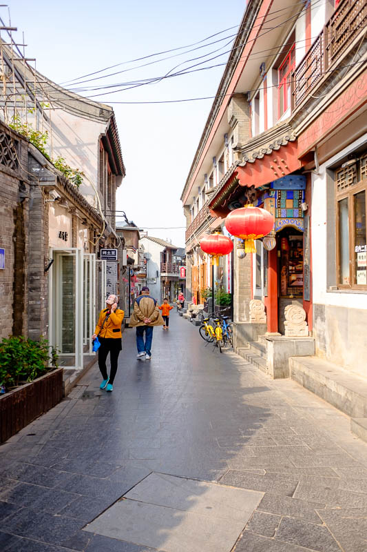 China-Beijing-Summer Palace - Still not at the summer palace, but I did find a newly restored old street. Newly restored old streets are the newest sensation in the old parts of Be