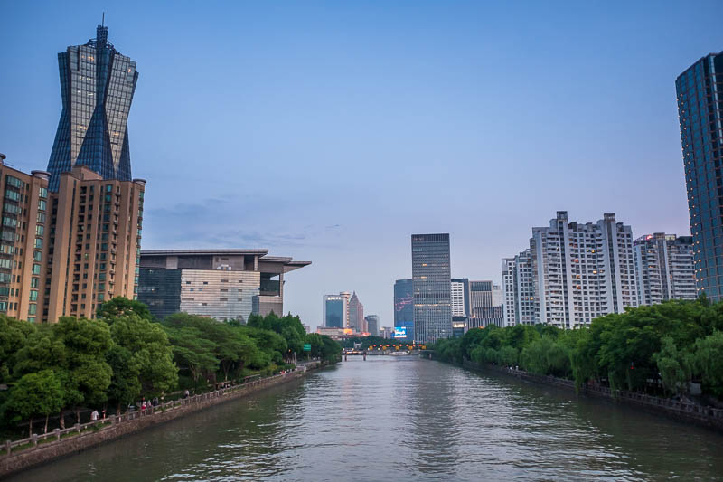 China-Hangzhou-Wulin Square-Ramen - All of that is the grand canal, very grand.