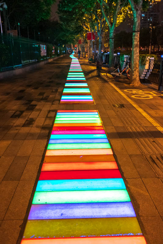 China-Shanghai-Bund-Curry - I thought if I followed the rainbow road I would surely find my dinner. Sydney continues to have ongoing debates about a rainbow painted on the road,