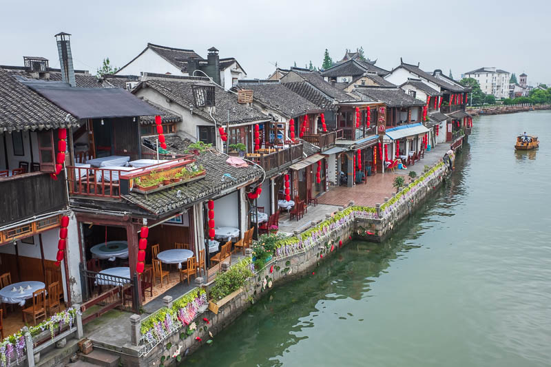 China-Shanghai-Zhujiajiao-Parrot - Here is the photo from the bridge.
