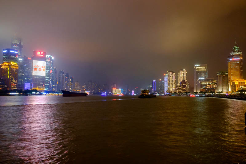 China-Shanghai-Architecture-Pasta - The number of dark barges that go past very quickly is amazing, you really could stand here all night.
