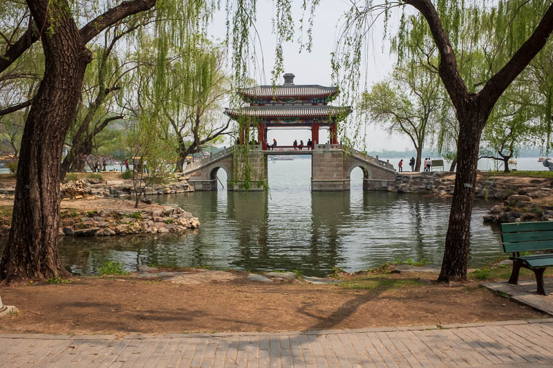 China-Beijing-Summer Palace - A different kind of bridge.