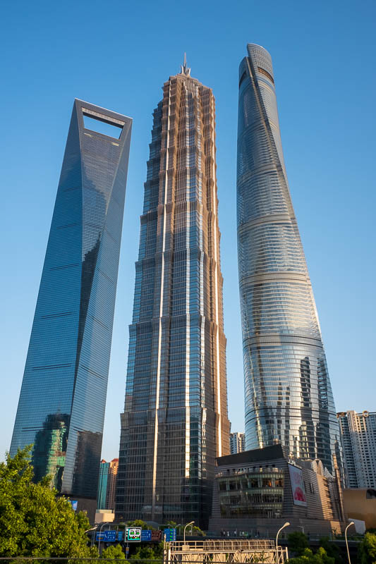 China-Shanghai-Sunshine-Architecture - Here we have all 3 together, the one on the right is substantially taller, despite appearances in this photo.