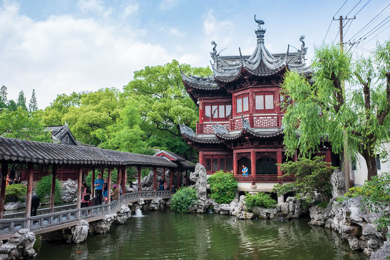 China-Shanghai-Park-Yuyuan Garden - Have a bit more ancient garden tea house / jade viewing gallery.