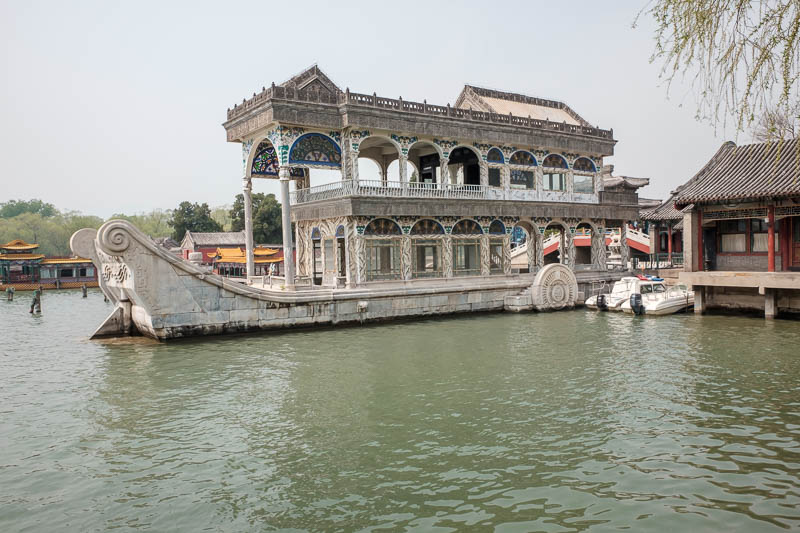 China-Beijing-Summer Palace - This ancient boat is made from solid ivory. It must have been a huge elephant!
