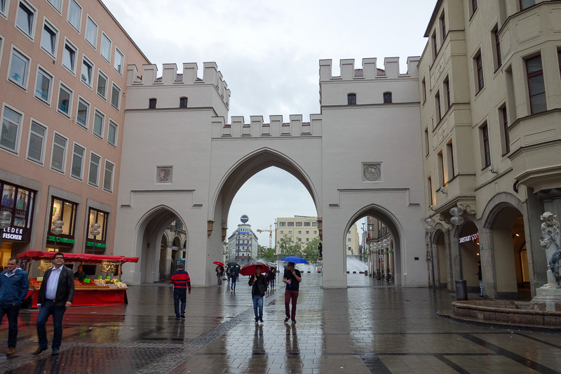 Germany-Munich-Rain - The main shopping street is actually very nice.