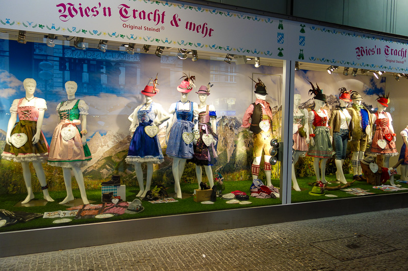 Germany-Munich-Rain - Then there are the local Bavarian fashion brands like this.