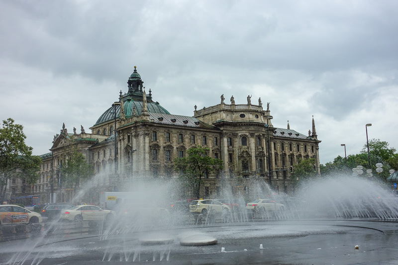 Germany-Munich-Rain - I was the only idiot standing in the rain taking a photo of a fountain.