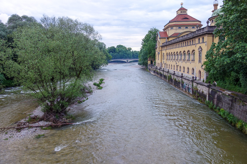 Germany-Munich-Isar - Clocks and accordians