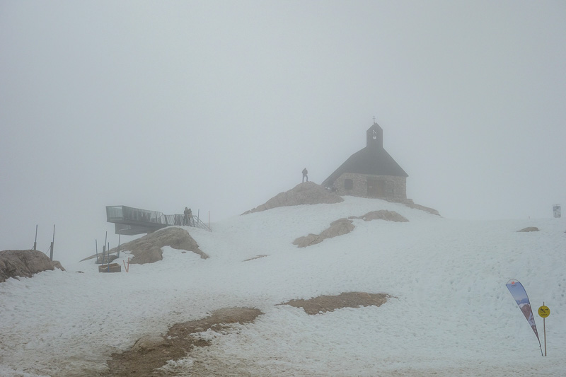 Germany-Garmisch Partenkirchen-Hiking-Zugspitze-Snow - Someones built a church even.
