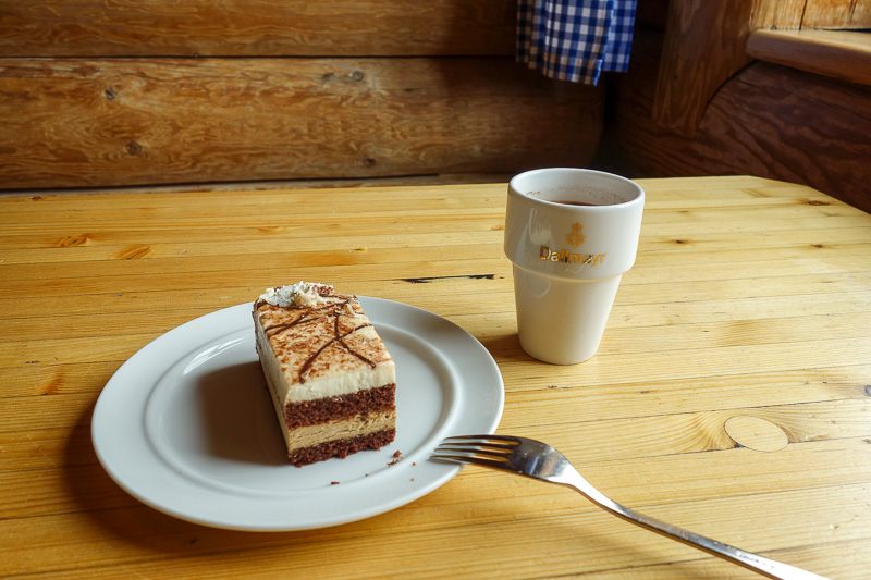 Germany-Garmisch Partenkirchen-Hiking-Zugspitze-Snow - So I had some more cake.