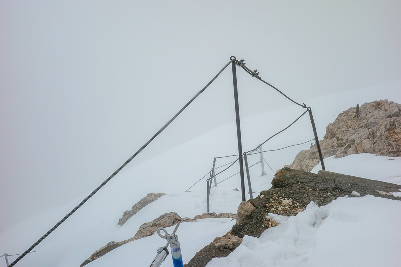 Germany-Garmisch Partenkirchen-Hiking-Zugspitze-Snow - It wasnt far to the summit now, about an hour, but it was very foggy. My camera extended the lense at one point and then turned off! So I was a bit co