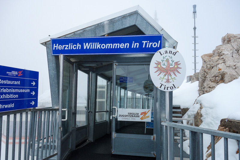 Germany-Garmisch Partenkirchen-Hiking-Zugspitze-Snow - And then I climbed up some metal steps to the huge tourist centre on the summit. I technically crossed the border to Austria.