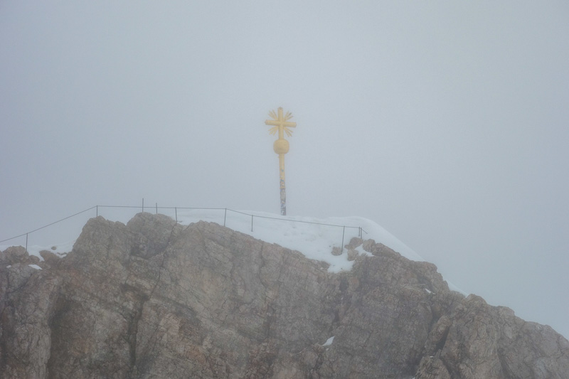Germany-Garmisch Partenkirchen-Hiking-Zugspitze-Snow - Then I walked around and saw the real summit. It appeared to be closed. I asked someone and they said closed because idiot tourists try and go up ther
