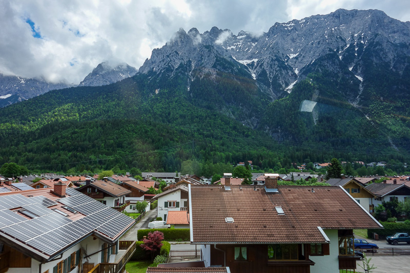 Germany-Garmisch Partenkirchen-Austria-Innsbruck - This is a slightly smaller mountain range that towers over Mittenwald. I was going to go here before I found out the place I went to had a higher moun