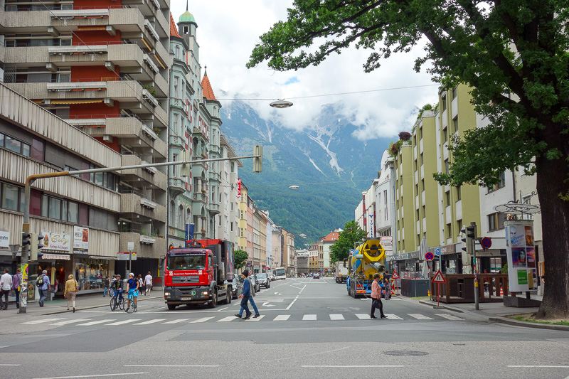Germany-Garmisch Partenkirchen-Austria-Innsbruck - Then theres the small matter of the mountains towering over the city in every direction.