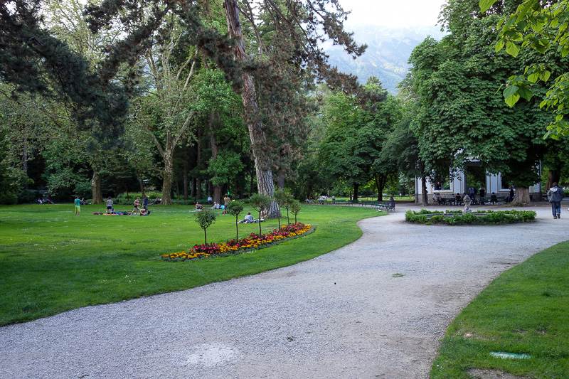 Austria-Innsbruck-Mall-Pasta - There is also a large botanic garden in the centre of town. It was full of young people in what I at first thought was their underwear. Some sort of p