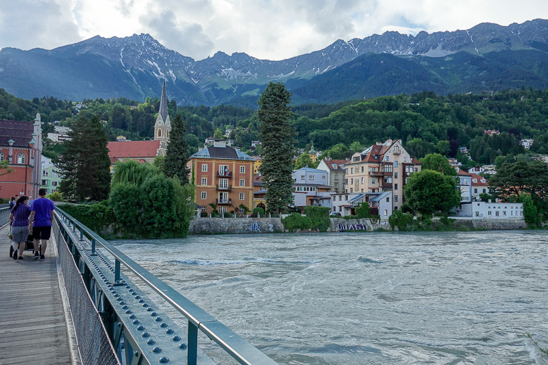 Austria-Innsbruck-Mall-Pasta - I crossed a river and enjoyed some more view.