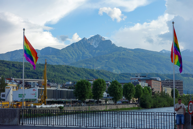 Austria-Innsbruck-Mall-Pasta - Then appreciated this gay mountain for a while.