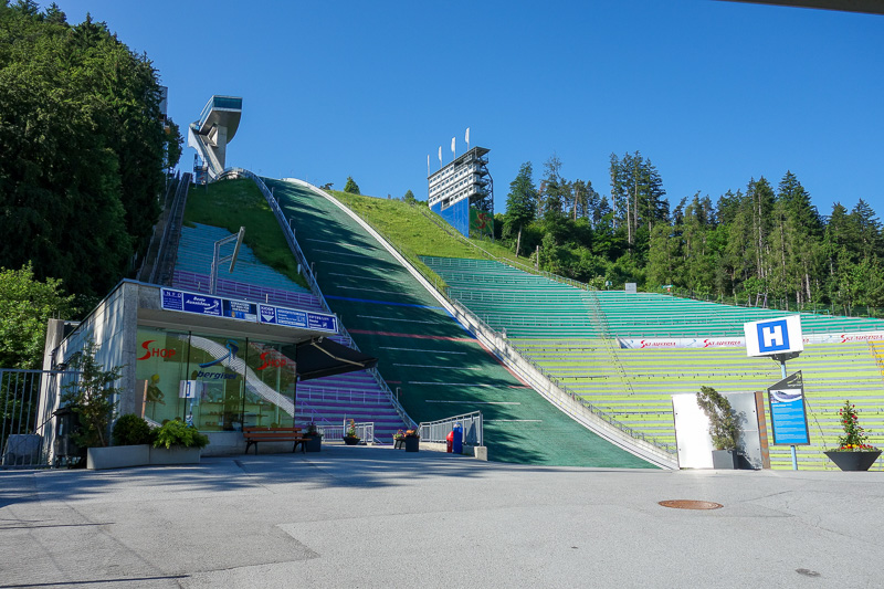 Austria-Innsbruck-Hiking-Patscherkofel - There is another ski jump up here. This one is regularly used.