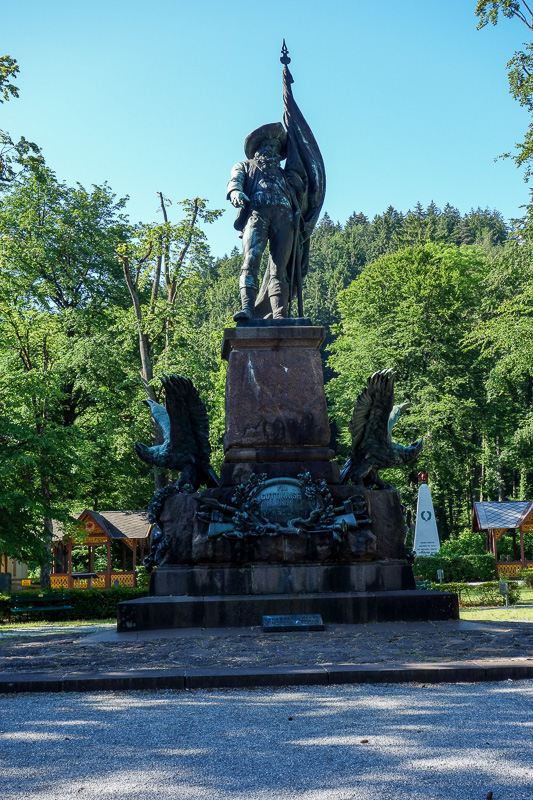 Austria-Innsbruck-Hiking-Patscherkofel - You can also appreciate a statue of Arch Duke Franz Ferdinand, whos murder was used as a reason to start world war 1. Not sure why theres such a statu