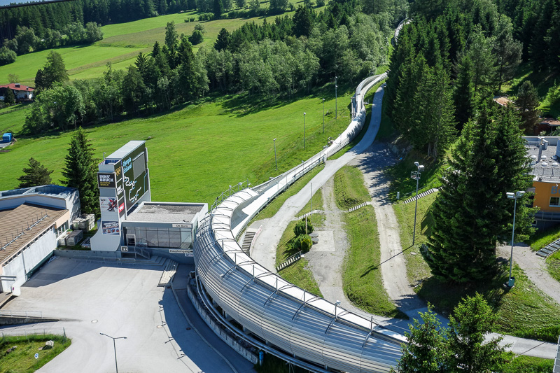 Austria-Innsbruck-Hiking-Patscherkofel - There is also the olympic bobsled track, I climbed up the observation deck to get a better look.