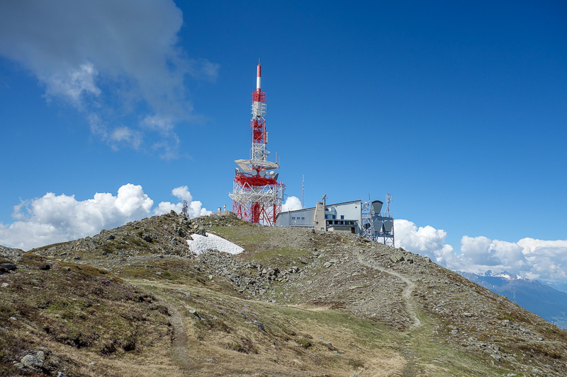 Austria-Innsbruck-Hiking-Patscherkofel - As is common, the summit is a hive of scientific research stations and communications towers.