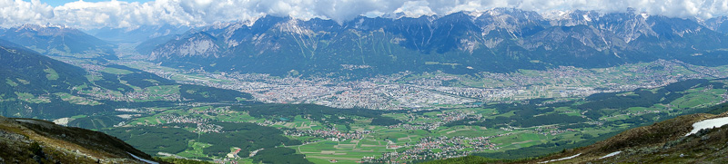 Austria-Innsbruck-Hiking-Patscherkofel - And finally, all of Innsbruck. You can see the airport on the left edge of the city, and the valley that way heads back into Bavaria, from where I cam