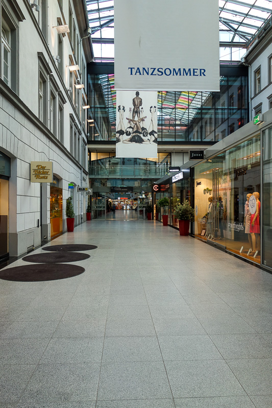 Austria-Innsbruck-Casino - I found another shopping centre, shut of course. Not even supermarkets stay open past 7pm, and there is no convenience stores here except at the train