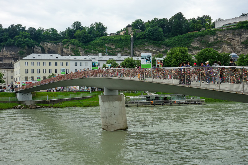 Austria-Salzburg-Mozart-Sausage - Salzburg is yet to cut the locks off their bridge like many cities have had to do after engineers discovered they were at risk of collapsing.