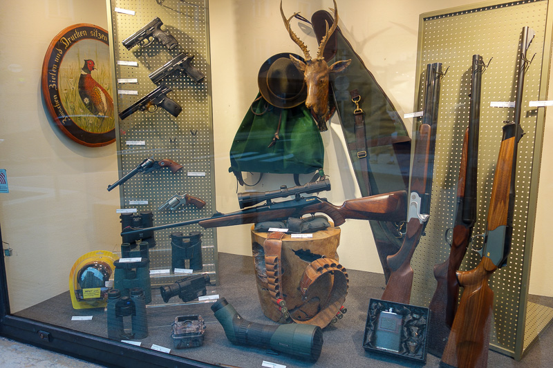 Austria-Salzburg-Mozart-Sausage - Many guns are made in Austria, including those used by the Australian army. I presume these are real guns, and that a smash and grab would be very eas