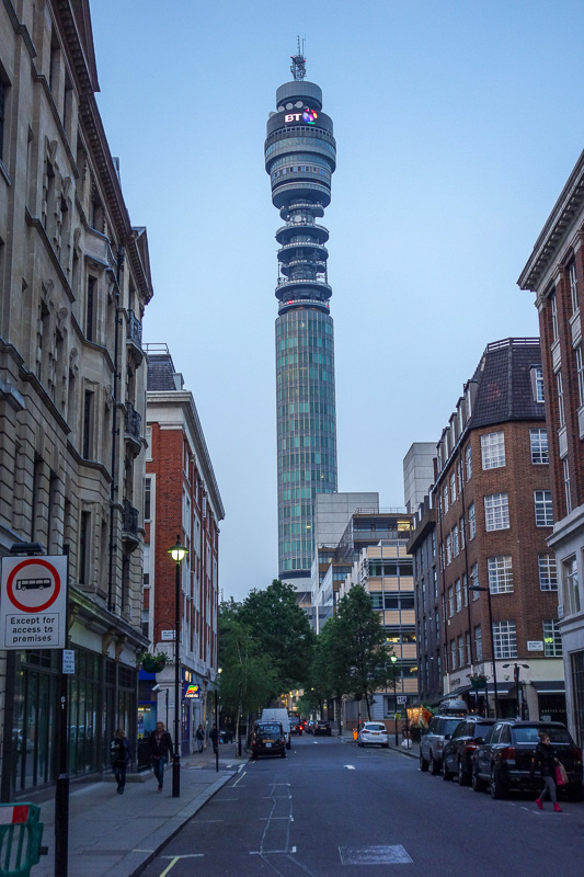 England-London-China Town-Picadilly Circus - And then once I saw the BT tower, I knew I was near my hotel and it was time to go home.
