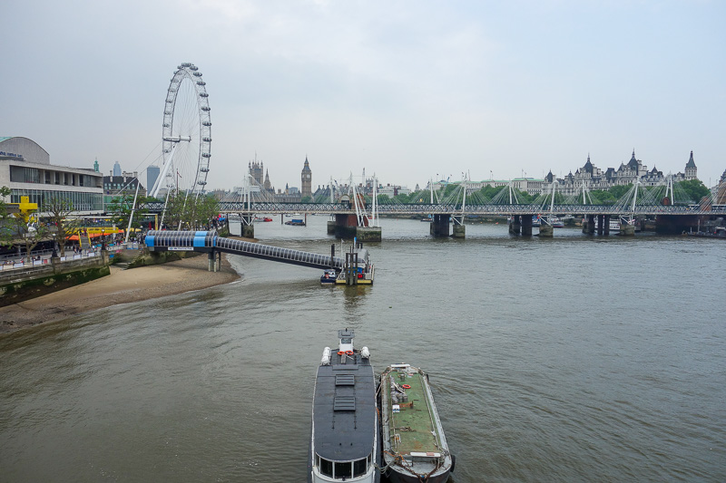 England-London-Tower Bridge-Burrough Market - This is the mighty river Thames. As history buffs will know, its where Hitler sailed the Bismarck to start World War 1 by killing Henry the 8th.
