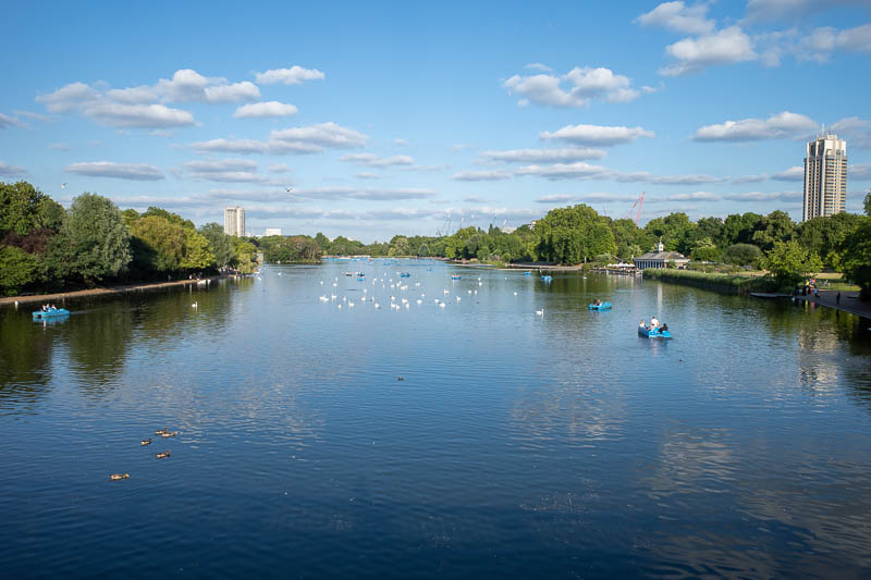 England-London-Hyde Park - The other direction of the Serpentine.