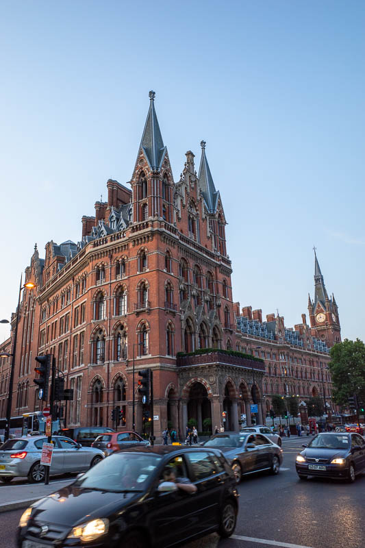 England-London-Covent Garden - St Pancras hotel / train station.