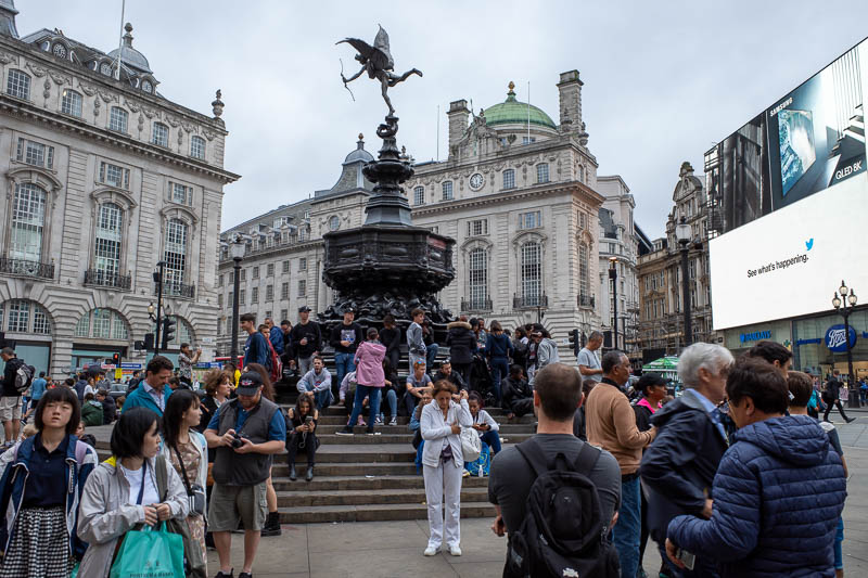 England-London-Chinatown - Another busy part of town at Piccadilly Circus. Everything is a circus.