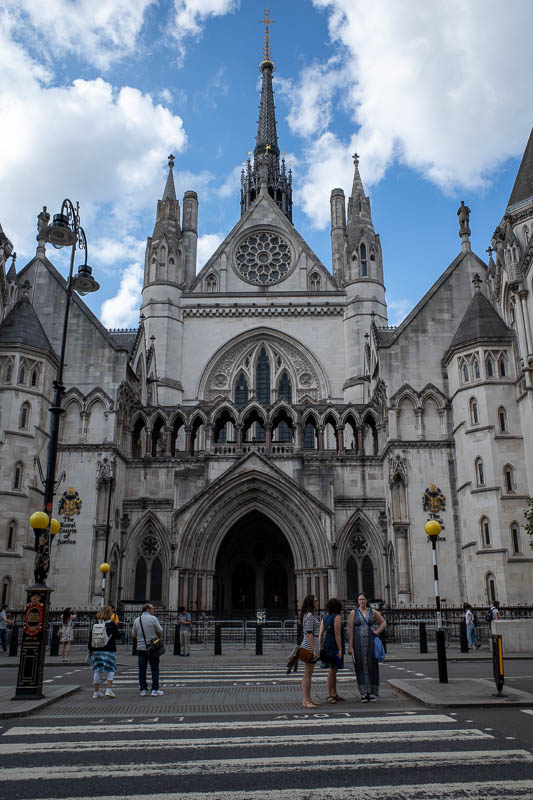 England-London-Tower Bridge - Here are the Royal Law Courts, where members of the Royal family are tried if they break the law.