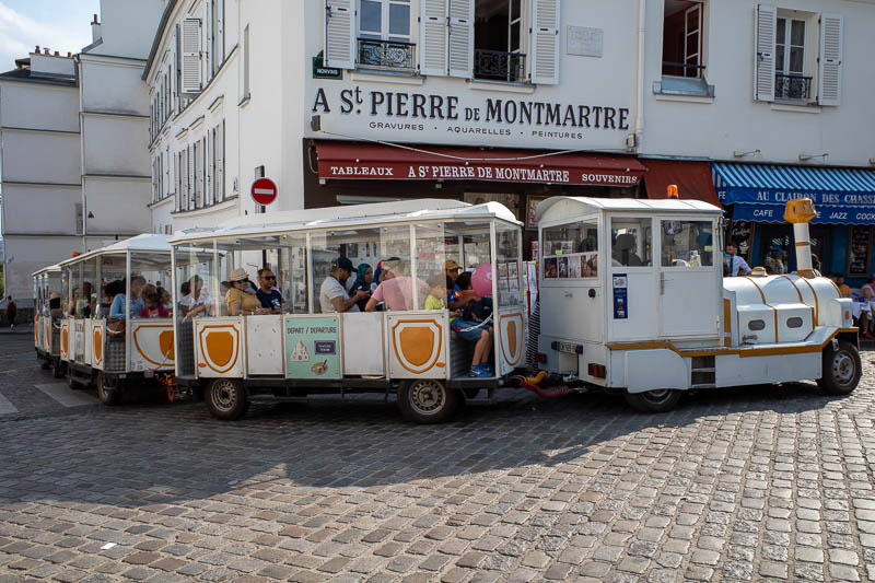 France-Paris-Montmartre - The mountain is too challenging for many, who instead take this train that is usually used to transport crippled children around the hospital.