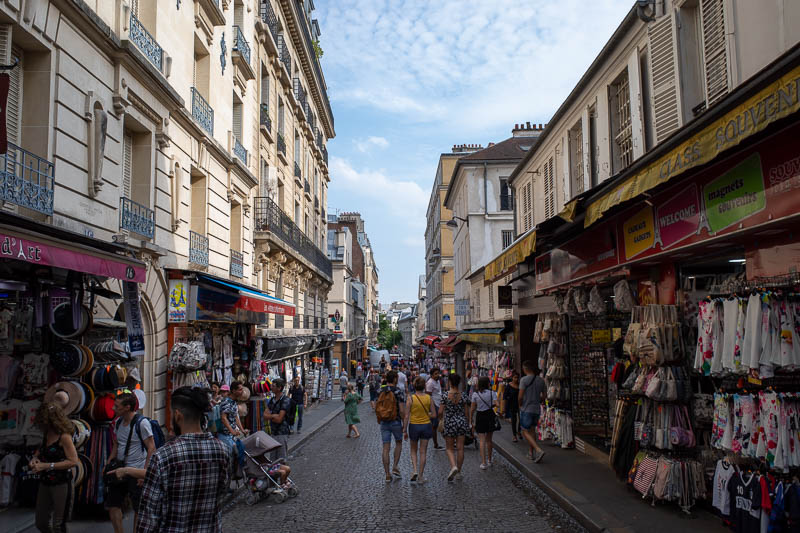 France-Paris-Montmartre - The streets at the bottom are full of slightly less expensive but still price gouging shops specially set up to annoy tourists.