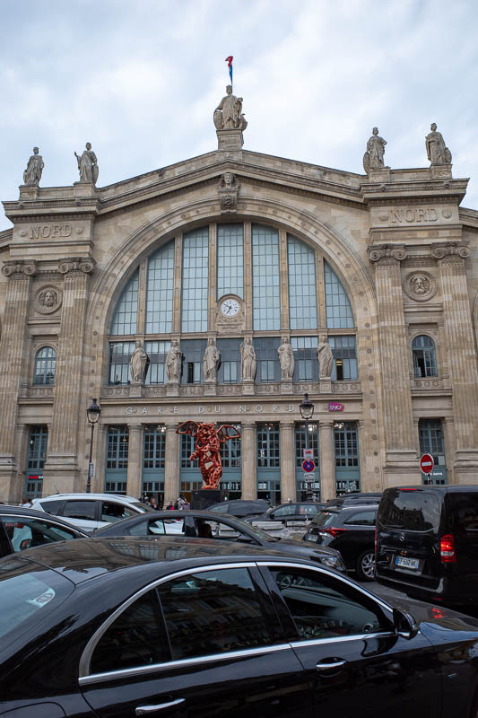 France-Paris-Montmartre - And here is Gare Du Nord station, where I stood up and had a falafel for my dinner, eating one handed while using the other to fight off pickpockets.