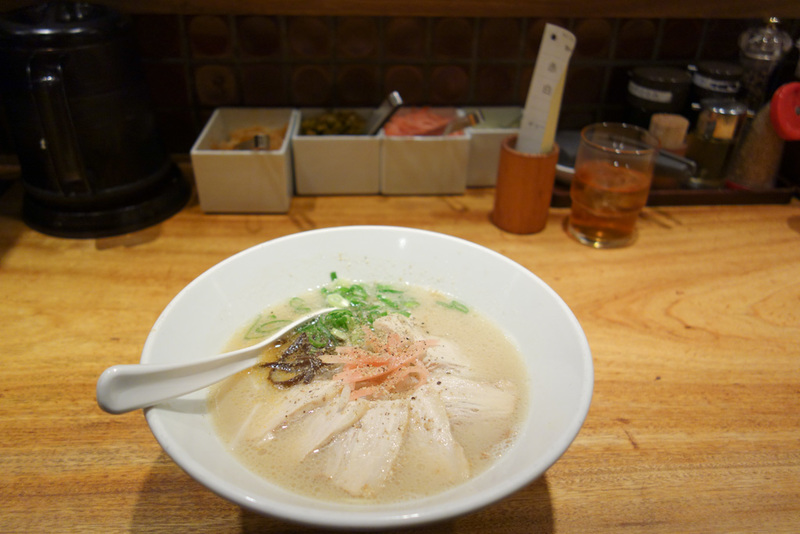 Japan-Kyoto-Shopping Street-Ramen - For dinner, the predictable ramen. I decided to be weak and only have Chasu rather than the ultra thick and fattening Tonkotsu. No English but I looke