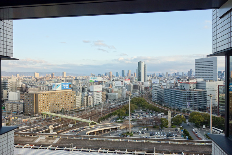 Japan-Osaka-Dotonbori - The view out the other side of my hotel. Quite superior to mine. I will leave feedback that as an important westerner I should have been placed on the
