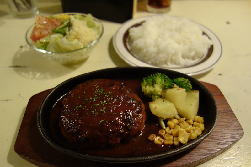 Japan-Osaka-Dotonbori - My dinner, from a bar. I was the only customer (this happens when doorways all lead down or upstairs, you cant tell if anyones inside). It took me som