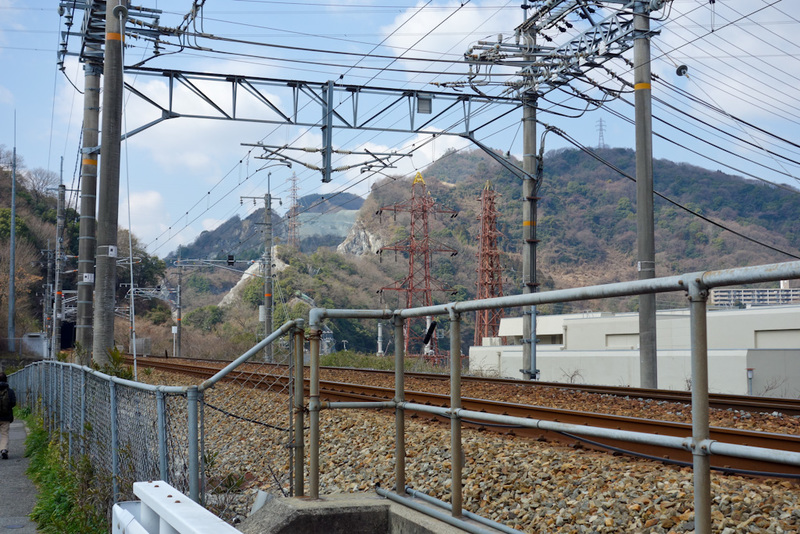 Japan-Osaka-Namaze-Hiking-Tunnel - Namaze is a bit of a nothing station. Near what appears to be a quarry. There is a busy highway and a shinkansen line nearby. Getting off the train wi