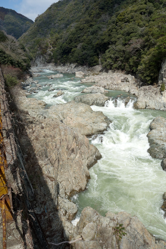 Japan-Osaka-Namaze-Hiking-Tunnel - A particulary rocky section of the river.