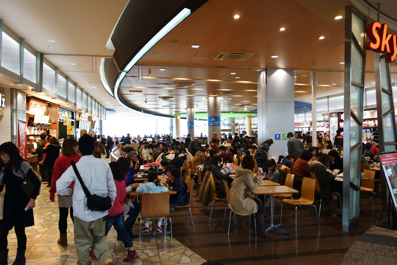 Japan-Osaka-Namaze-Hiking-Tunnel - Complete with food court. Perfect for the solo diner.