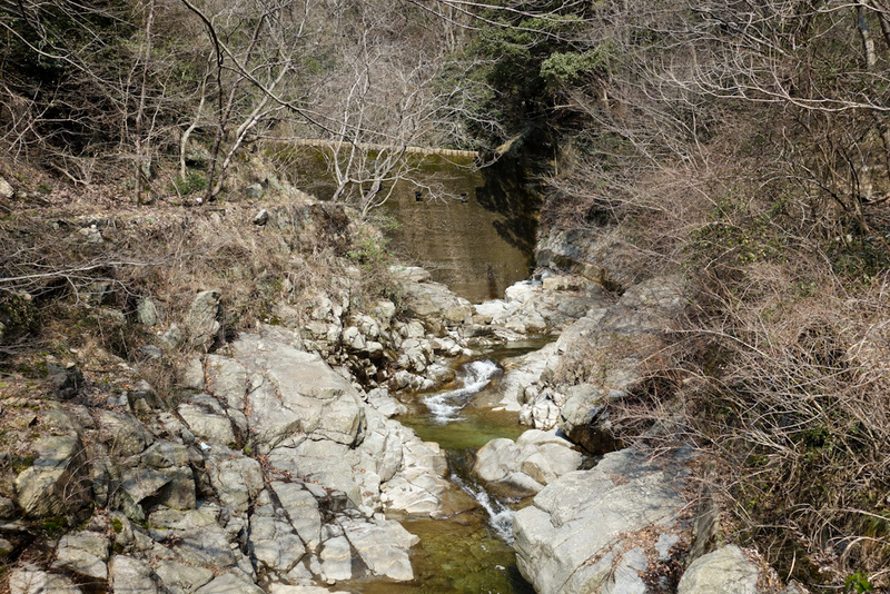 Japan-Kobe-Hiking-Garden-Takaoyama - Some kind of an ancient dam.