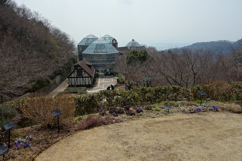 Japan-Kobe-Hiking-Garden-Takaoyama - The idea of the herb garden is to take the cable car to the top then walk down to another cable car station. Its probably not the best time to visit,