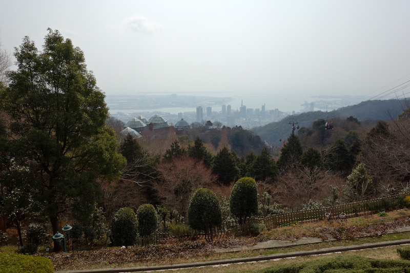 Japan-Kobe-Hiking-Garden-Takaoyama - The hazey view from the top.